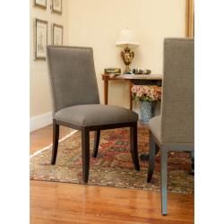 Parsons Nailhead Granite Grey Side Chairs (Set of 2)