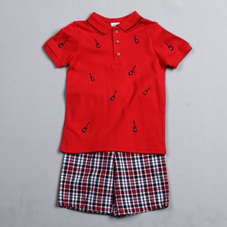Good Lad Boys (4 7) Guitar Polo Shirt and Shorts Set