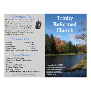 Church Bulletin (Outside Only) Customized Letterhead