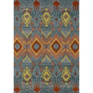 Hand tufted Arianna Blue Wool Rug (50 x 76)
