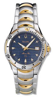 Bulova Marine Star Mens Two tone Quartz Watch