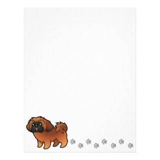 Cartoon Shih Tzu (red puppy cut) letterhead by SugarVsSpice