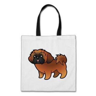 Cartoon Shih Tzu (red puppy cut) bags by SugarVsSpice