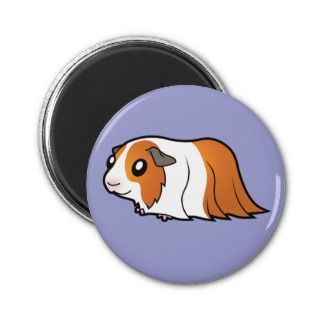 Cartoon Guinea Pig (red dutch) magnets by SugarVsSpice
