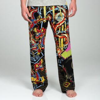 Ed Hardy Mens Wild Collage Lounge Pants