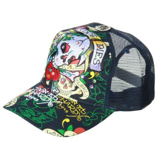 Ed Hardy Mens Love Dies Hard Rhinestone Hat