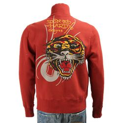 Ed Hardy Mens Tiger Track Jacket