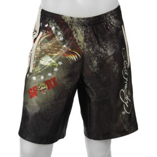 Ed Hardy Mens Love Kills Slowly Mesh Shorts