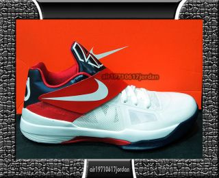 Nike Zoom KD IV 4 Olympic USA 2012 White Red Obsidian Blue 473679 103