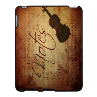 Musicians Notes Antique Musical Score with Strings iPad Cases