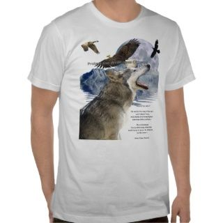 WOLF, EAGLE, RAVEN, Moon, Mountain & Poem, T Shirt