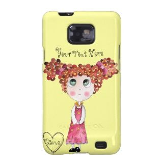 Cute Doll Yellow Samsung Galaxy S2 Case