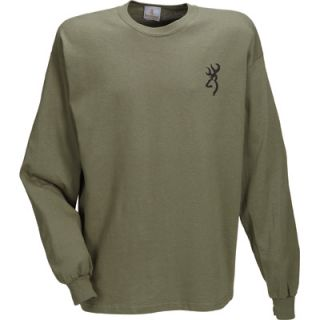 Browning Pickup Gun Rack Long Sleeve T Shirt — Military Green  Long