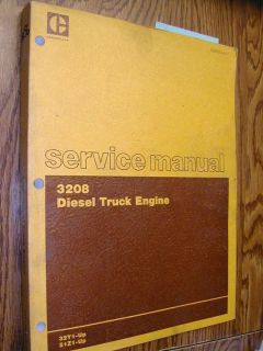 3208 Service Shop Repair Manual Diesel Engine Truck 32Y 51Z