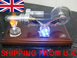 Hot Air Stirling Engine Education Toy Kits Power Generator 4BLUE LED