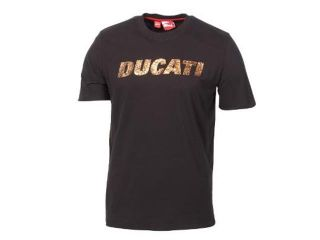 Ducati Puma Logo T Shirt Black with Copper Logo