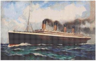 The Titanic Glory of The White Star Line Counted Cross Stitch Chart