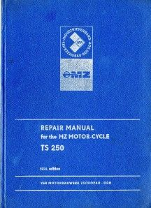 MZ TS 250 Original Workshop Service Manual 1974