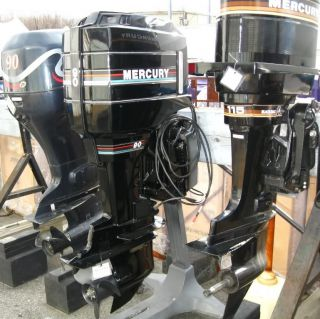 Mercury 90 HP 20 Shaft Outboard Boat Marine Motor 90ELPTO