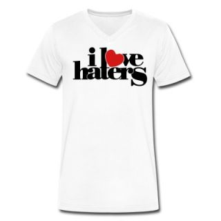 LOVE HATERS V Neck T Shirt 11258583