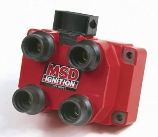 MSD Coil Dis Replacement E Core Square Epoxy Red 40000 V Ford 4 6L