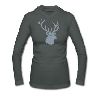 stag night bachelor deer moose elk antler antlers Long Sleeve Shirts