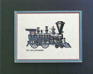 Cross Stitch Pattern Pages The 440 Washington Steam Engine