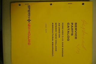 New Holland Ford 460 CID Gas Engine Parts Manual Book