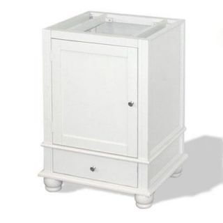American Bath Factory W1 2433 WH 2 CH Cape Mansion 24 Vanity Cabinet