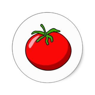 Cartoon Tomate Aufkleber