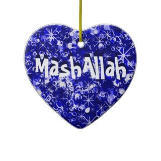 Mashallah islamische Feier Blauverzierung Weihnachtsbaum Ornamente von