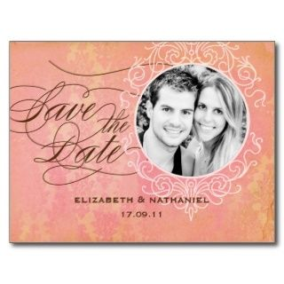 Vintage Luxe Postkarte des Fotos Save the Date