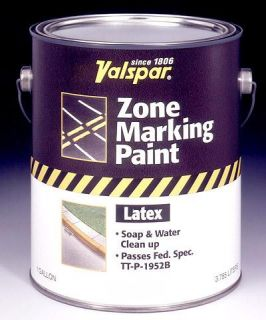 Valspar 24 135 GL 1 Gallon White Zone Marking Paint, White (4 Pack)